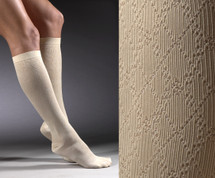 Activa Women's Trouser Sock Cross Hatch Pattern 15-20 mmHg