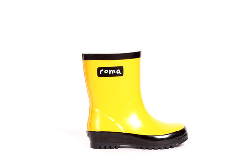 Roma Kids Rain Boot in Gold