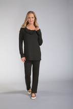 Relax Carmen Long Sleeve Pocketed Shirt by Amoena
