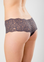 Lacy Thong by Knock Out! in slate