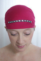 Oval Rhinestone Self Tie Head Scarf in assorted colors by Sparkle  my head scarves