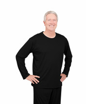 Cool-jams Men's Long Sleeve Wicking T-Shirt in Black, Navy, and Steel