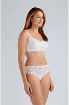 Amoena Rebecca Pocketed Soft Cup Mastectomy Bra in White
