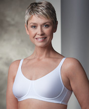 Trulife Lily Seamless Underwire Mastectomy bra in Black, Nude, Powder Pink and White colors