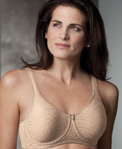 Trulife Lana Seamless Microfiber Underwire Bra in white and latte.