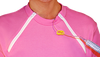 Women's Pink Long Sleeve Port Accessible Chemotherapy Shirt