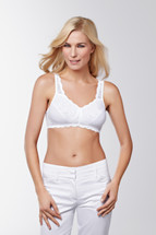 Jasmin Soft Cup Mastectomy Bra in white by Amoena