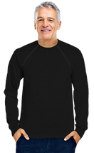 Men's Black Port-Accessible Long Sleeve Chemo Shirt by Comfy Chemo
