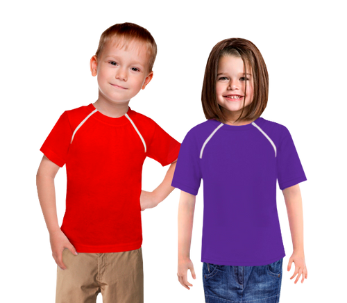 Kid's Chemo|Port-Accessible Shirt by Comfy Chemo - Red and Purple