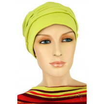 Lime Green Shirred Cap by Hats for You