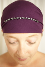 Delicate Rhinestone Pre-Tied Head Scarf in assorted colors by Sparkle my head scarves