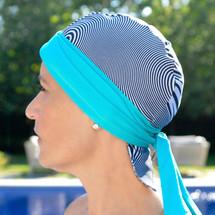 BWell11 Blue Bullseye Bandiva Swim Cap