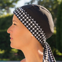 BWell11 Black Dots Bandiva Swim Cap