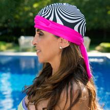 BWell11 Pink Bullseye Bandiva Swim Cap