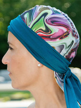 BWell11 Peacock Watercolor Bandiva Swim Cap