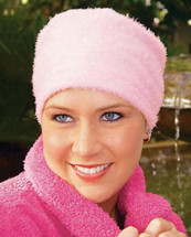Flurry Fleece Sleep Cap for Chemotherapy Patients by Hats with Heart - Light Pink
