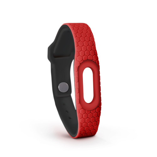 MyID Hive Medical ID bracelet with medical online profile by Endevr - Red