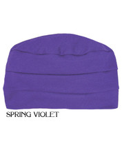 3 Seam Turban Cap for chemo patients by Hats with Heart in Spring Violet
