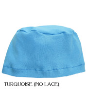 Comfort Sleep Cap for Cancer Patients by Hats with Heart in Turquoise (No Lace)