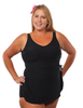 Classic Mastectomy Sarong Sheath in Black in Women's Sizes by T.H.E.