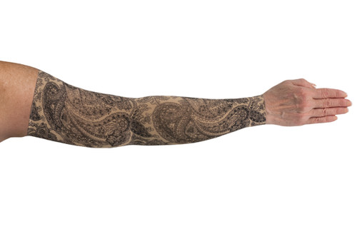 Lymphedivas Compression Sleeve - Black Paisley Pattern