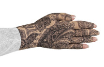 Lymphedivas Compression Glove Black Paisley Pattern