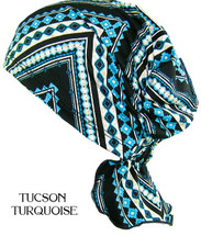 Hats With Heart - Zoey Scarf in Tucson Turquoise Print