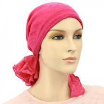 Mini Calypso Scarf by Hats for You in Rouge Crinkle by Hats for You
