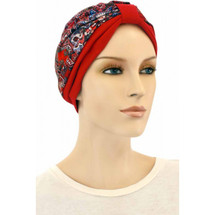 Chemotherapy Two Toned Ornaments Print Turban Cap  by Hats for You
