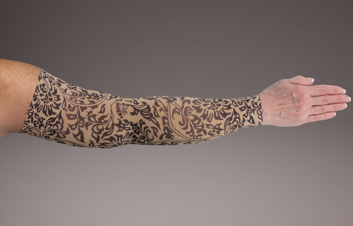 b02ea05020 Lymphedivas Compression Armsleeve - Damask Bei Chic pattern. Loading zoom.  Lymphedivas Compression Armsleeve ...