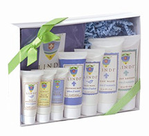 Lindi Skin Fight Back Pack for chemotherapy patients contains the Lindi Skin Body Lotion, Lindi Skin Body Wash, Lindi Skin Face Wash, Lindi Skin Soothing Balm,  Lindi Skin Face Serums and Lindi Skin Face Moisturizer.