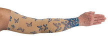 Compression Arm Sleeve for lymphedema by Lymphedivas in Flutter Pattern