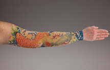 Compression Arm Sleeve for lymphedema by Lymphedivas in Koi Pattern