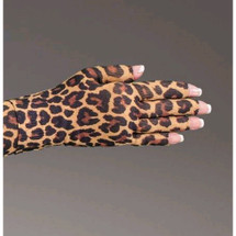 Lymphedivas Compression Glove - Leo Pattern