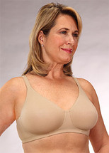Classique Mastectomy Bra - 722 Seamless Cotton Fashion Bra - Beige