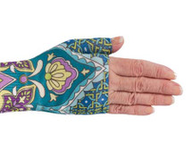 Lymphedivas Compression Gauntlet for lymphedema in Marakesh pattern