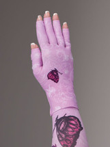 Lymphedivas Compression Glove - Mariposa Pink Pattern