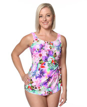 Classic Mastectomy Sarong Sheath in Plumeria Paradise by T.H.E.