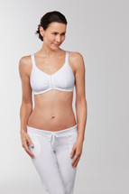 Front closure leisure mastectomy bra