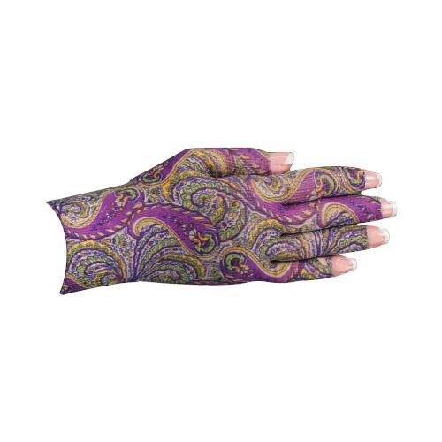 Lymphedivas Compression Glove - Purple Paisley Pattern
