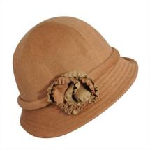 Betmar Wool Blend Deina Cloche Hat with Flowers
