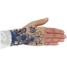 Lymphedivas Compression Gauntlet for lymphedema in Serenity pattern