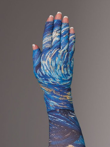 Lymphedivas Compression Glove -Starry Night Pattern