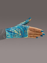 Lymphedivas Compression Gauntlet for lymphedema in Starry Night pattern
