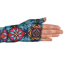 Lymphedivas Compression Gauntlet for lymphedema in Tiffany pattern