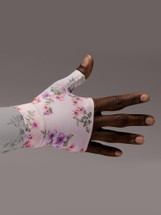 Lymphedivas Compression Gauntlet for lymphedema in Tranquility pattern