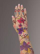 Lymphedivas Compression Glove -Viva Vida Pattern