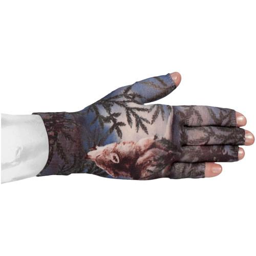 Lymphedivas Compression Glove -Wolf Song Pattern