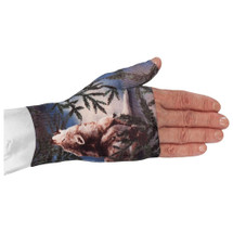 Lymphedivas Compression Gauntlet for lymphedema in Wolf Song pattern