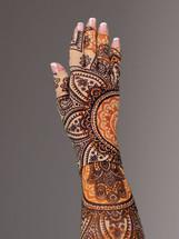 Lymphedivas Compression Glove  Yogi Pattern
